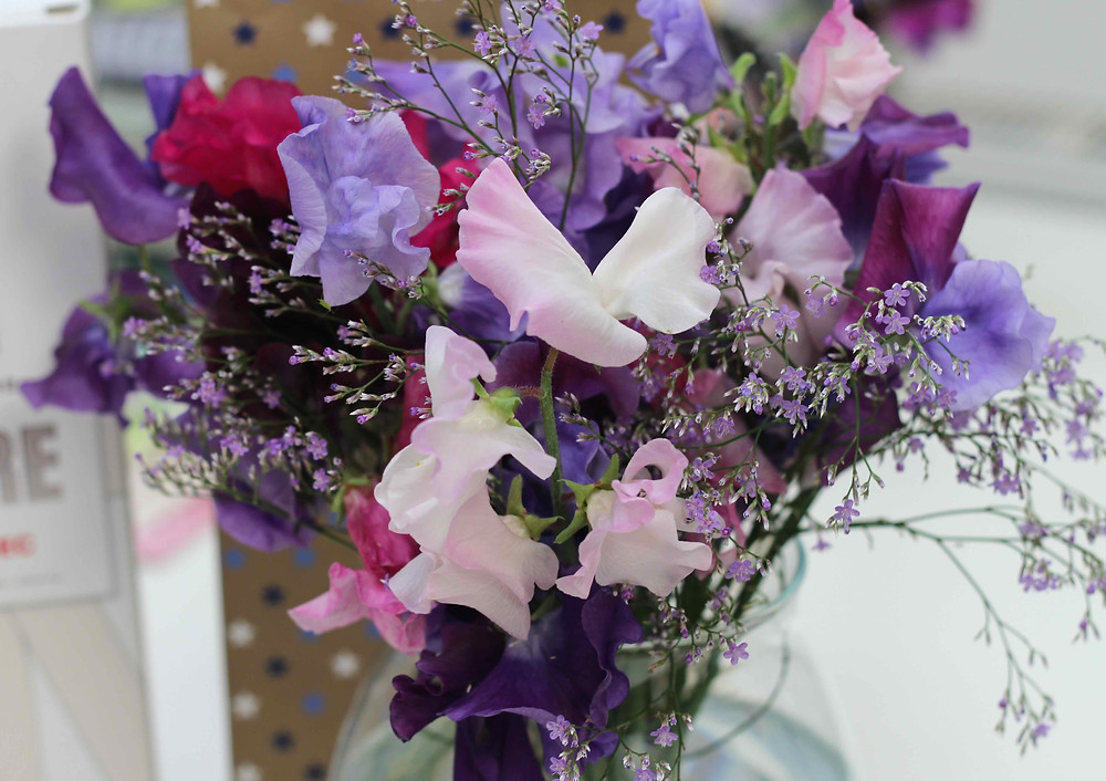 Sweet peas make perfect cut flowers
