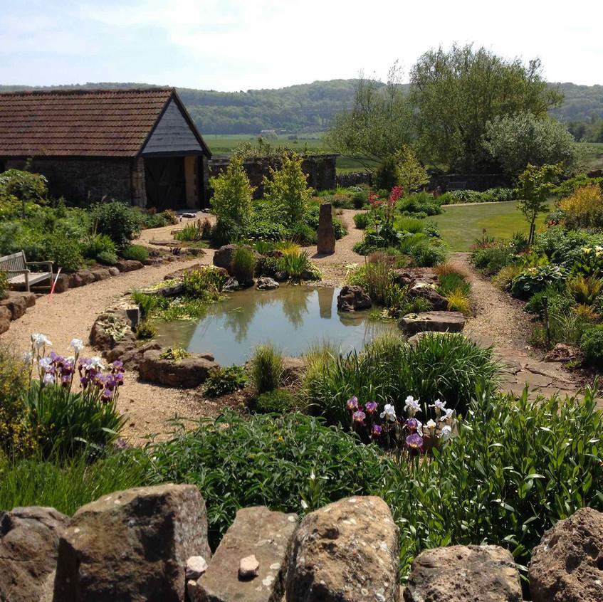 Lower garden earlier in the year