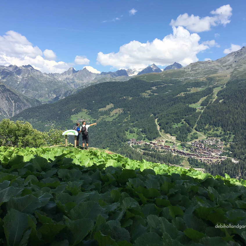 Looking back across valley to Sainte Foy