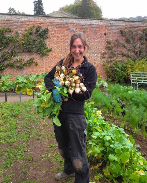 Myself in the walled kitchen garden at Tyntesfield