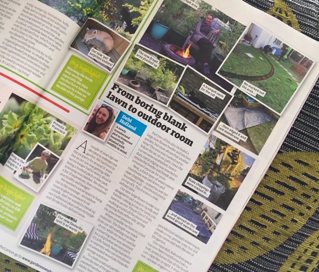Our garden featured in Garden News magazine