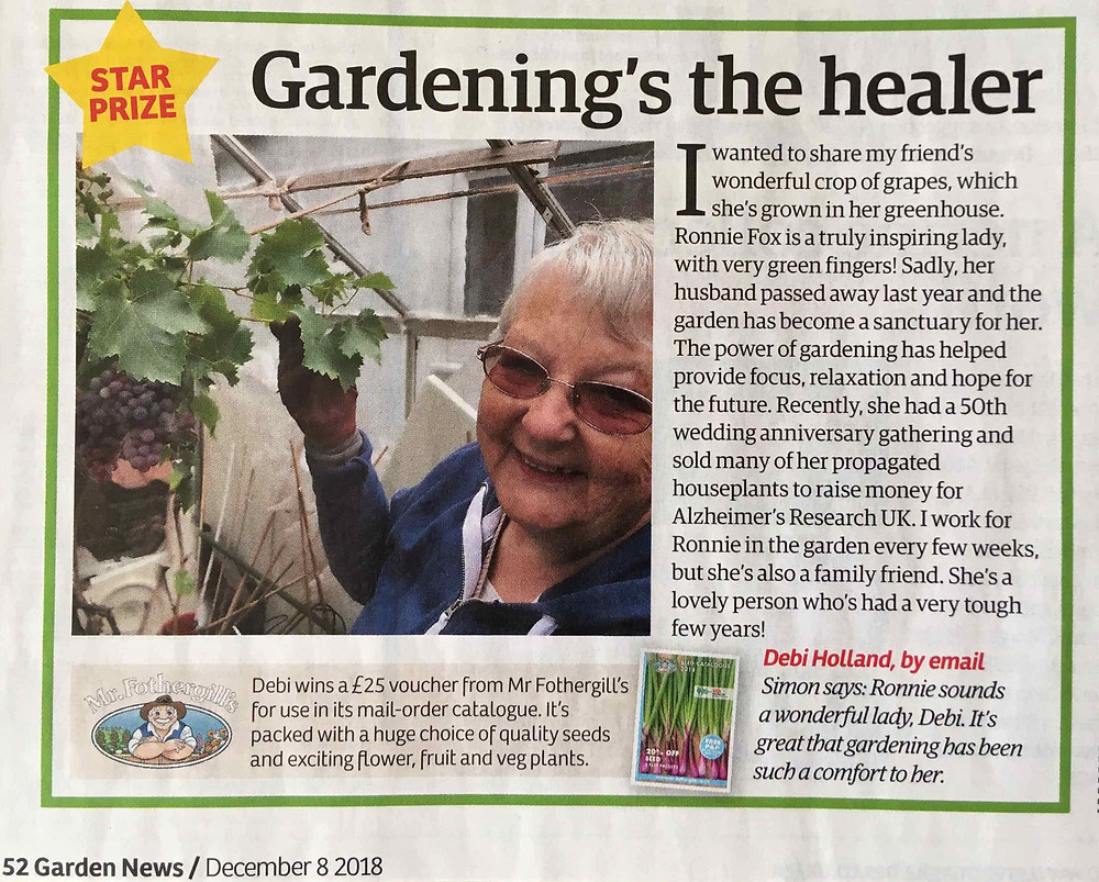 Star Prize in December issue of Garden News Mag