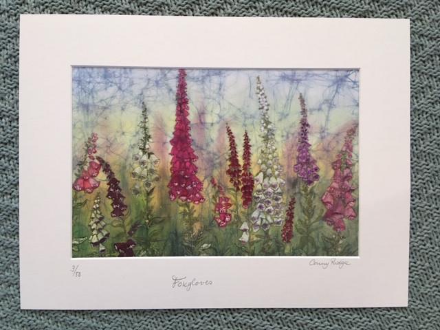 Batik print 'Foxgloves'