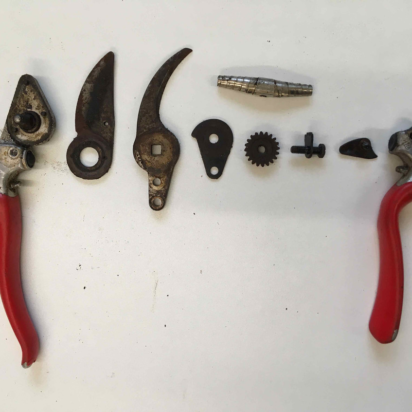 6. Components all disassembled
