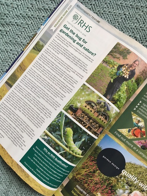 RHS Education article in BBC Countryfile magazine January 2020