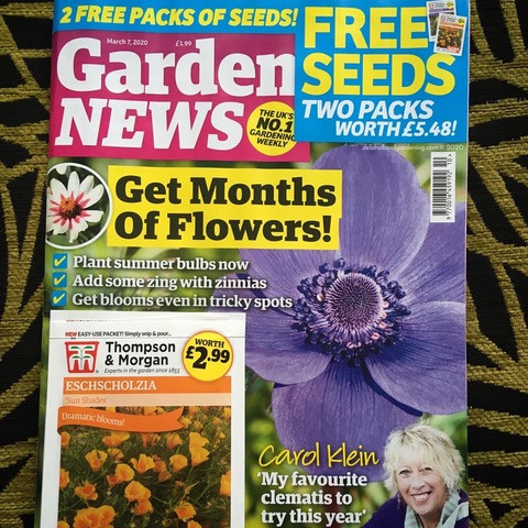 Front cover of 7 March Garden News Magazine 2020