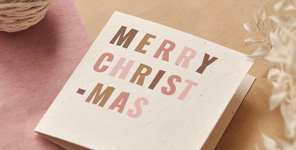 Merry Christmas Plantable Greeting Card