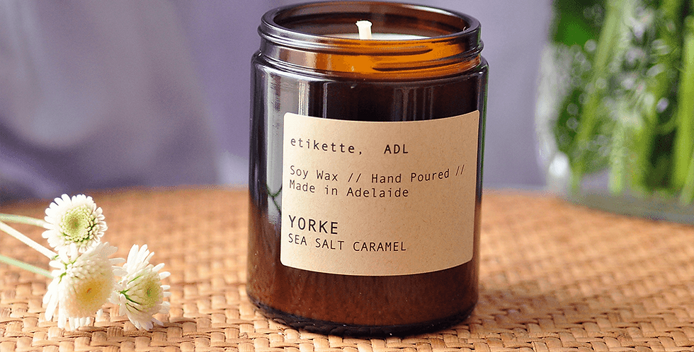 Yorke // Sea Salt Caramel Single Wick Candle