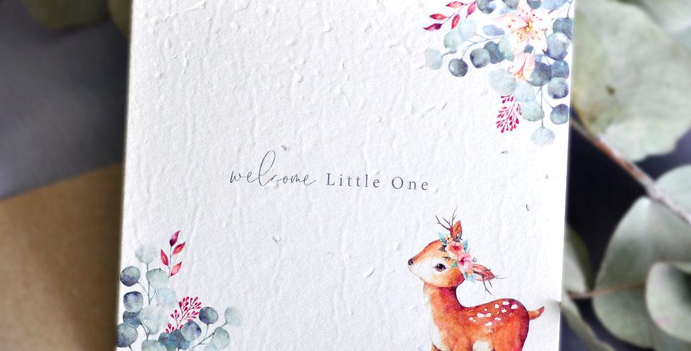 Oh Deer Baby Shower Plantable Greeting Card
