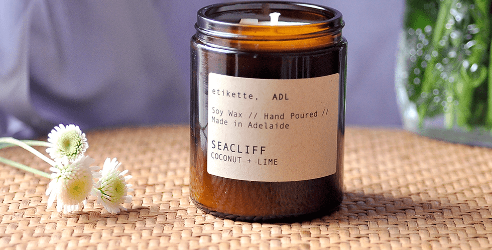 Seacliff // Coconut + Lime Single Wick Candle