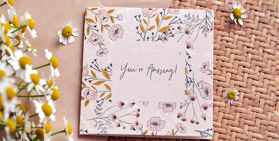You're Amazing! Plantable Gift Card