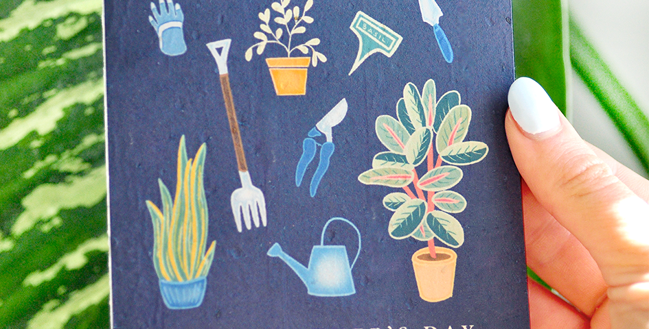 Gardener Fathers Day Gift Card