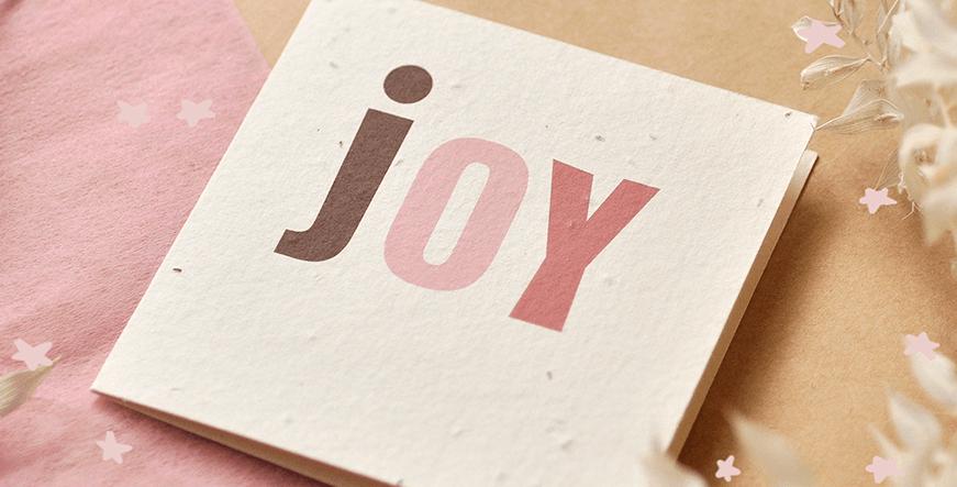 Joy Plantable Greeting Card
