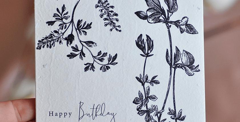 Flora Happy Birthday Plantable Greeting Card