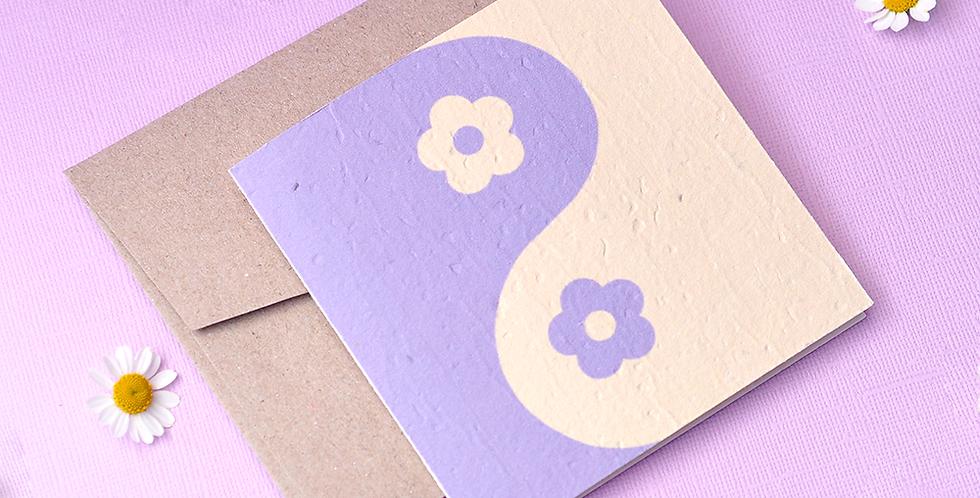 Yin Yang Plantable Greeting Card