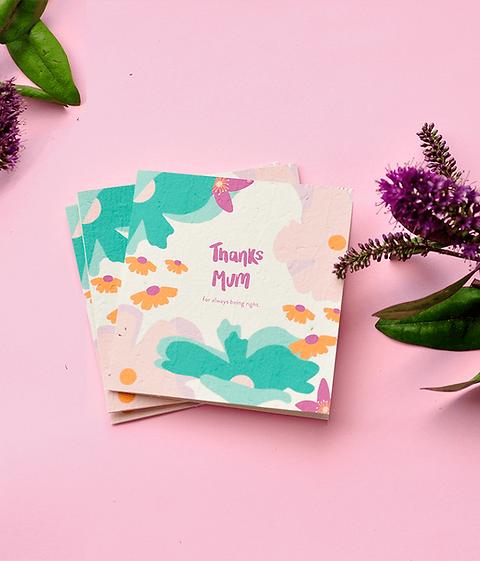 Plantable 'Thanks Mum' Card