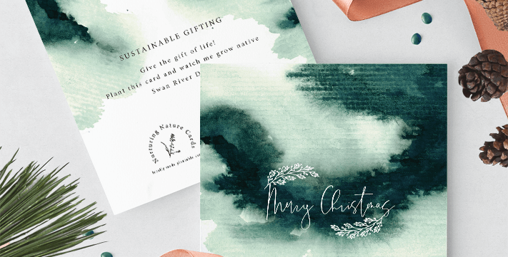 MYSTICAL FOREST Merry Christmas Card Single