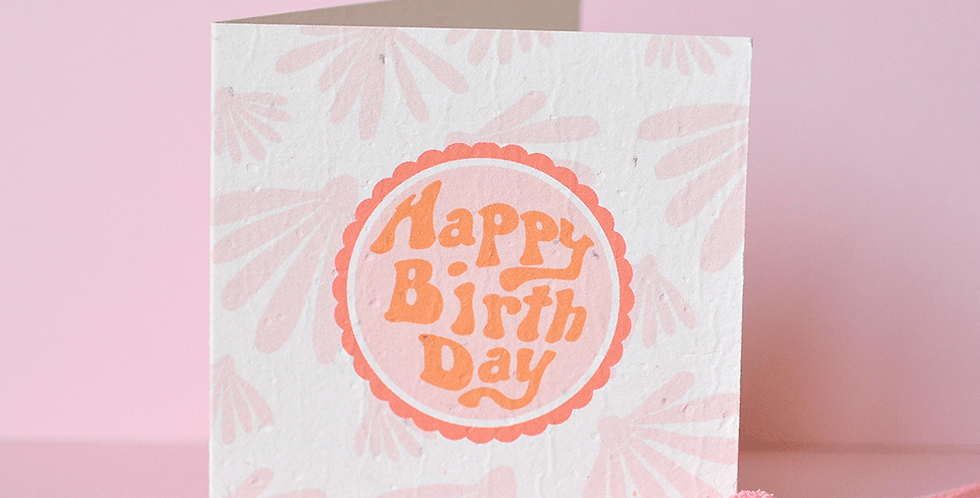Groovy Birthday Plantable Greeting Card