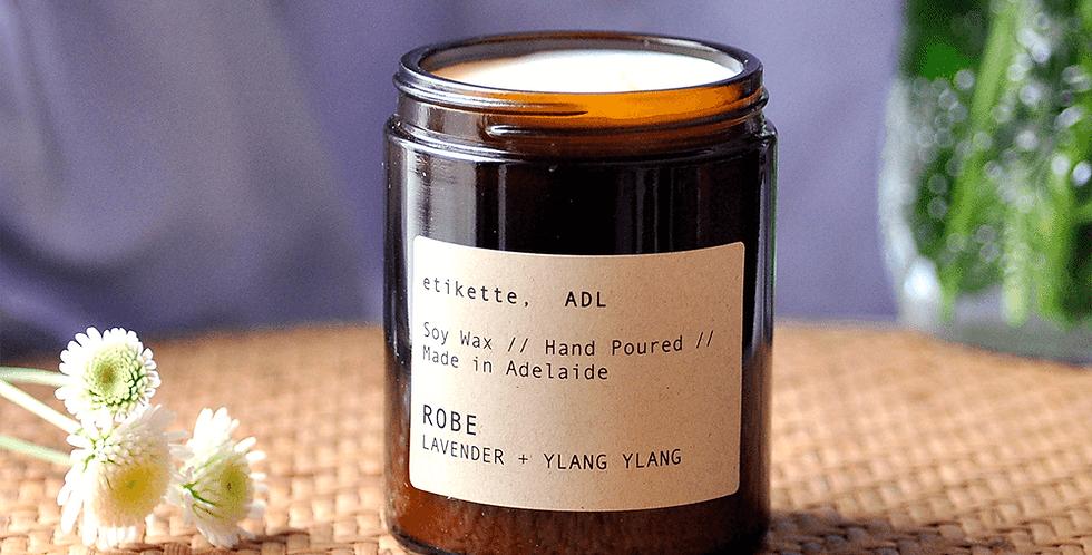 Robe // Lavendar + Ylang Ylang Single Wick Candle