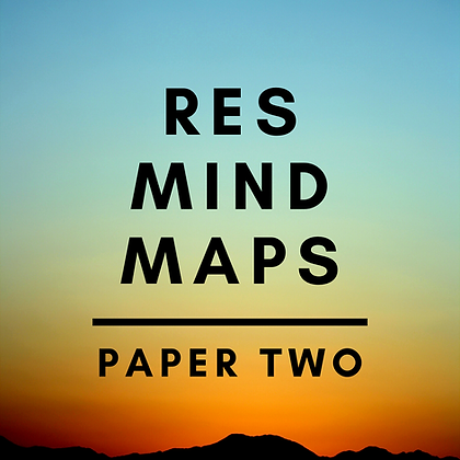 RES Mind Maps (Paper Two)