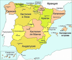 4 Карта  Испании