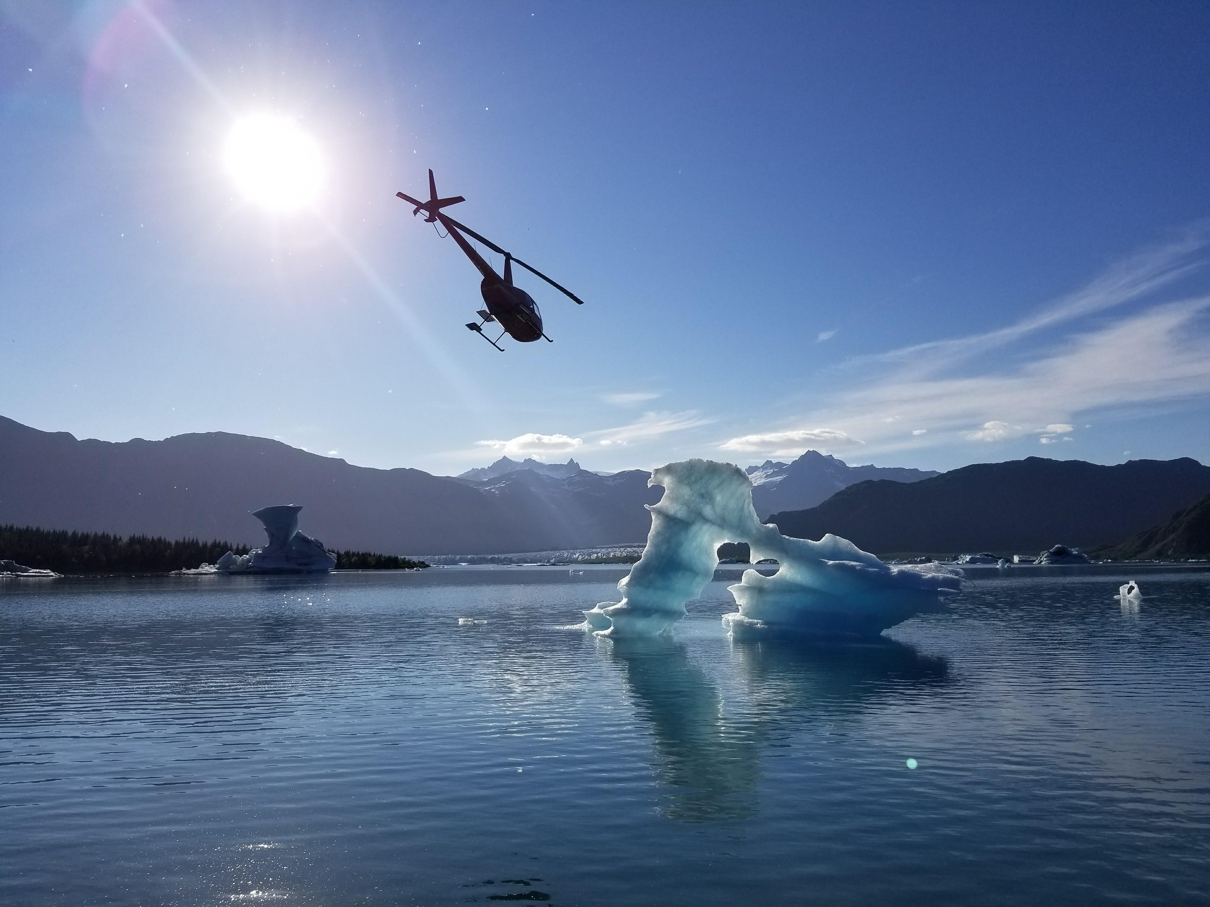 Beautiful day kayaking in Bear Glaci