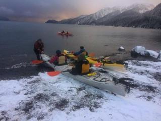Winter Sea Kayaking In Seward, Alaska!