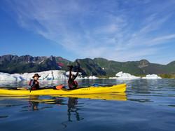Kayaking in Bear Glacier