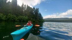 Kids paddling in Bear Lake
