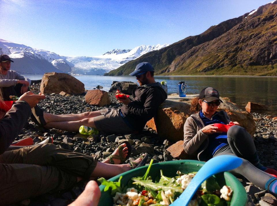 Kayak Guide Training, Abra Cove Camp, Aialik Glacier