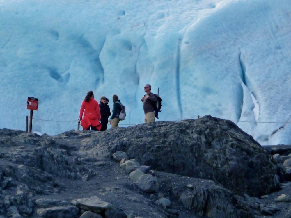Hiking at Exit Glacier near Seward, Alaska