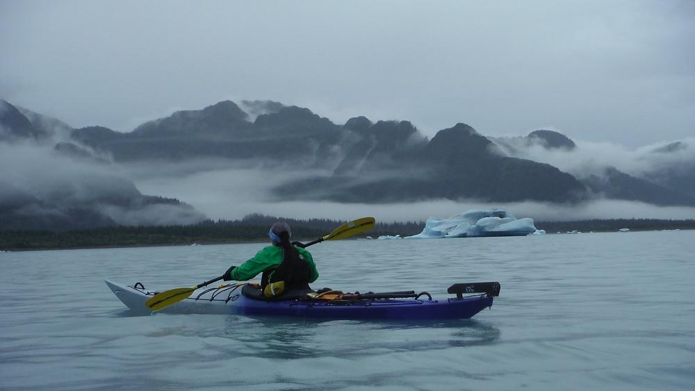 Rainy days in Bear Glacier near Seward Alaska