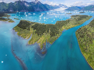Bear Glacier from the air, it is beautiful, from a kayak, it is Awesome.........!
