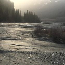 Resurrection River flowing from Exit Glacier