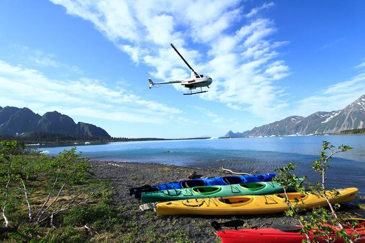 Helicopter into Bear Glacier