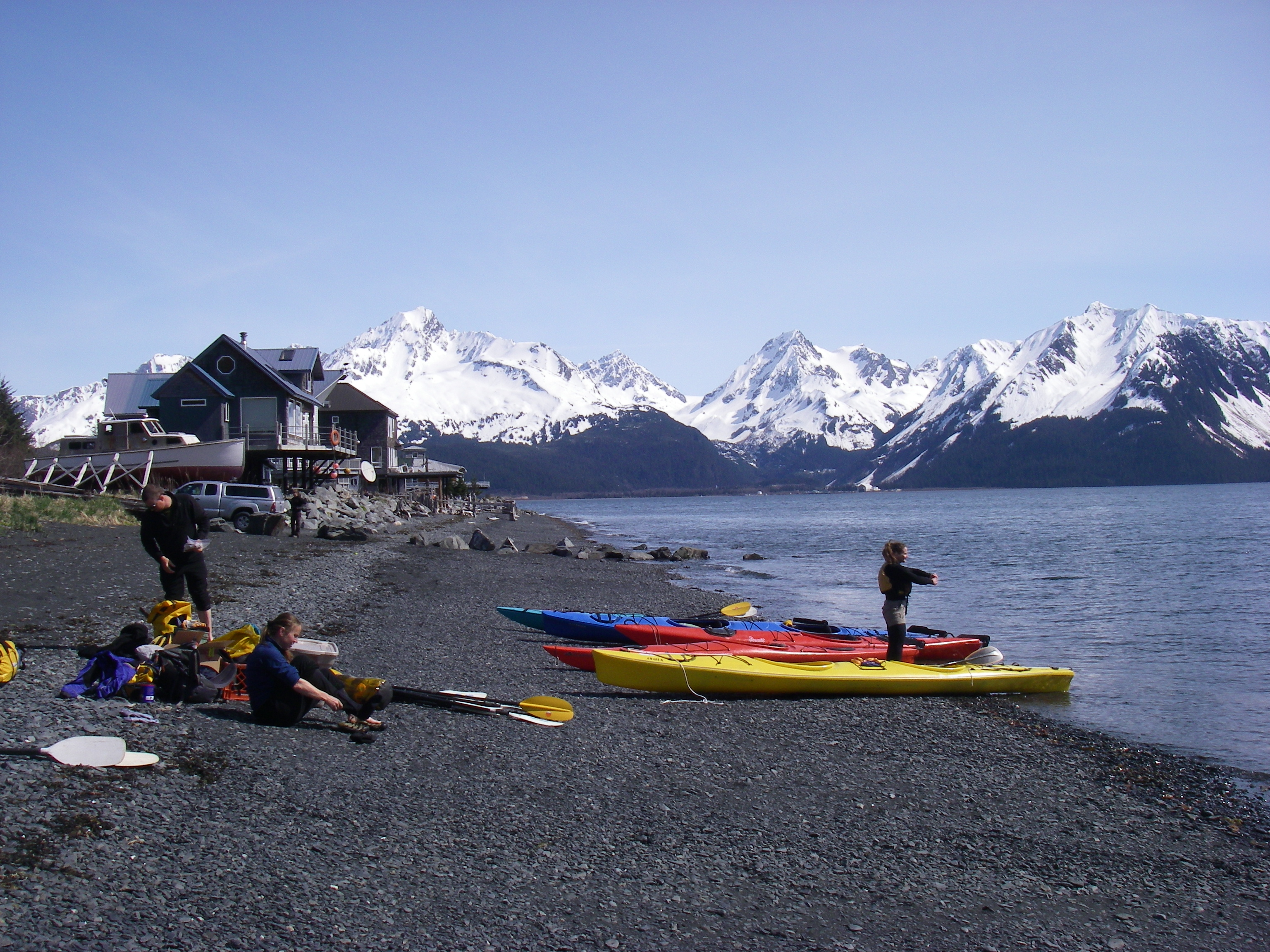 Kayaking of Lowell Point in Seward