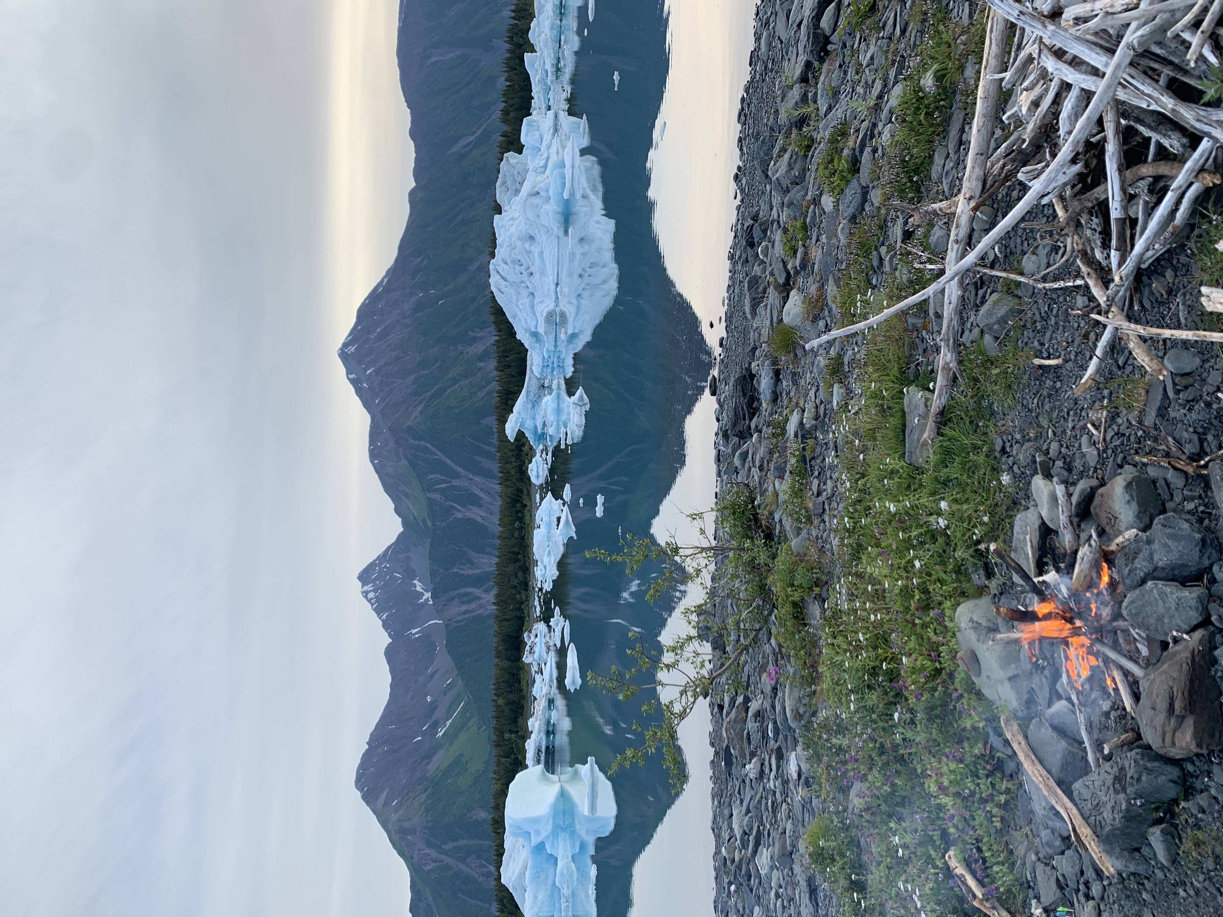 Our helicopter landing zone at Bear Glacier! What a veiw!
