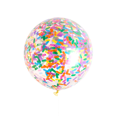 "36"" Sprinkles bubba Confetti Balloon (Air Filled)"