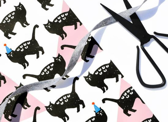 Party Cats Wrapping Paper Sheet