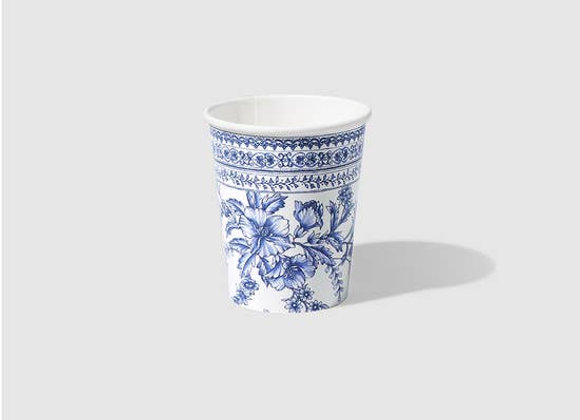 French Toile Paper Party Cups