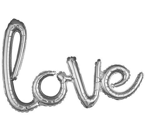 """31"""" LOVE Silver phrase"""