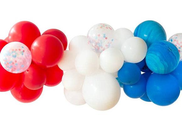 Patriotic Balloon Garland