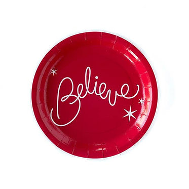 """Believe 9"""" Believe Plate"""