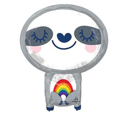 Sloth Rainbow Balloon