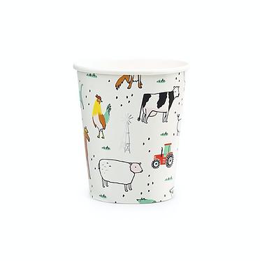 on the farm 9 oz cups