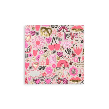 Love Notes Large Napkins - 16 pk