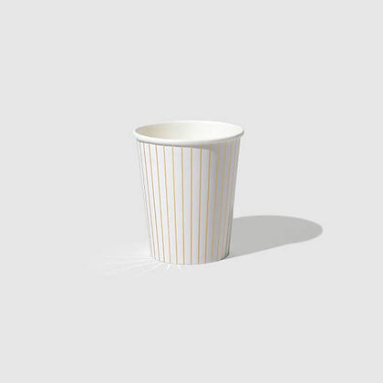 Gold Pinstripe Cups