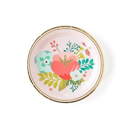 """Garden Party 7"""" Floral Plate"""