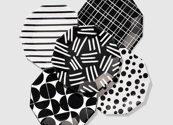 Dashes and Dots Large Paper Party Plates