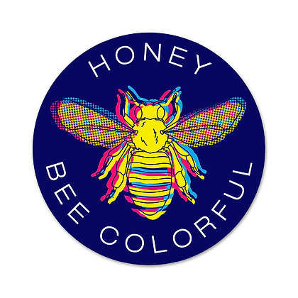 Honey Bee Colorful Sticker